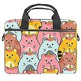 TIZORAX Laptop-Tasche für Geburtstag, Hut, Hamster, Notebooktasche mit Griff, 38,1 - 39,1 cm Tragetasche, Schultertasche, Aktentasche