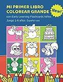 Mi Primer Libro Colorear Grande con Early Learning Flashcards Niños Juego 1-6 años Español ruso: Mis primeras palabras tarjetas bebe. Formar palabras ... Infantiles educativas para aprender a leer.