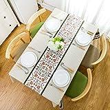 Highlyking Tovaglia Rettangolare Tessuto Antimacchia Impermeabile Lavabile con Rivestimento in PVC, per Cucina Tavoli Esterno Giardino Feste Compleanno
