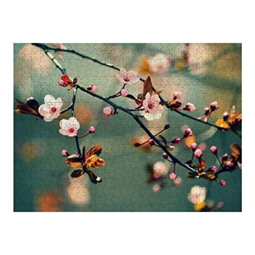 Hermosa flor de cerezo japonés Sakura - 500 rompecabezas para adultos y niños de 12 años en adelante, varios