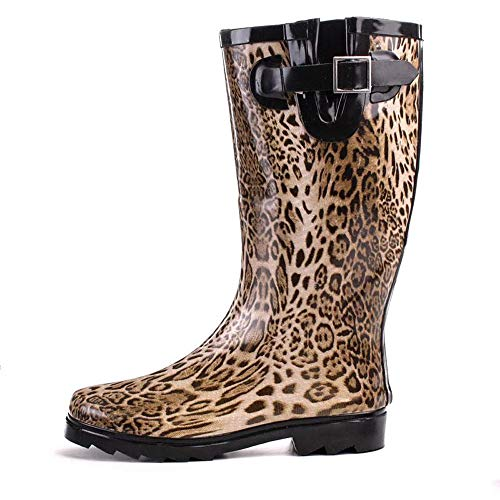 Damen Schuhe Gummistiefel im Leoparden Look (38)
