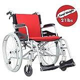 Hi-Fortune Wheelchair 21lbs Lightweight Self-propelled...