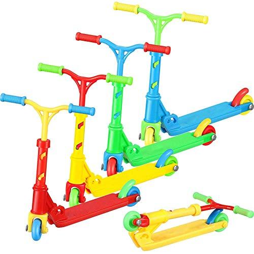 LIUCHANG Fingerspielzeug Set, 4 Stück Mini Finger Zwei Rad Roller Spielzeug, Kinder Pädagogische Spielzeug for Mini Extreme Sports, winziger Roller for Kinder Geschenke Hausdekoration liuchang20