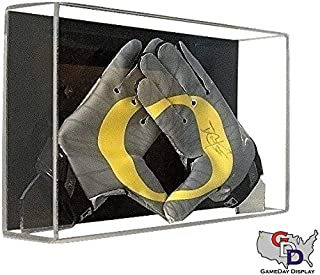 GameDay Display Acrylic Wall Mount Football Glove Display Case by