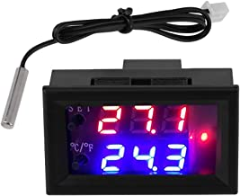 Temperature Controller, Digital Display Microcomputer Thermostat Temperature Controllers Switch with Sensor DC12V for Hatching Equipment Case