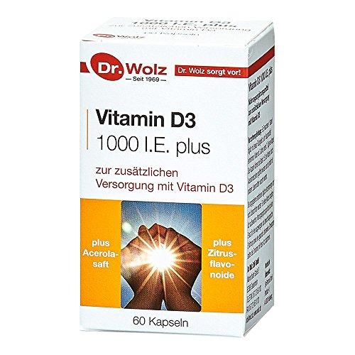 Vitamin D3 1000 I.E. plus von Dr. Wolz, 60 Kapseln