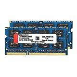 DDR3L (8GBx2) 16GB Kit 1600MHz SODIMM RAM (PC3-12800) CL10 204Pin 1.35V Non-ECC Unbuffered Memory Stick Upgrade Module for Laptop (Blue)