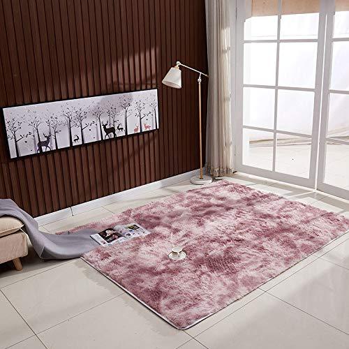 NoNo Heimteppich Flauschiger Teppich Kinderzimmerteppich Geeignet Für Wohnzimmer Esszimmer Kinderzimmer Schlafzimmer Dunkelviolett 140x200cm