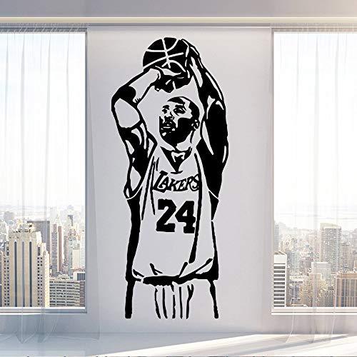 YuanMinglu Basketball wandaufkleber Dekorationen Home Company Schule büro Aufkleber Wohnzimmer wandbild Dekoration 87X210 cm