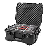 Nanuk 955 Waterproof Hard Case with Wheels and Padded Divider - Black