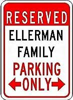 金属サインエルマンファミリー駐車場ノベルティスズストリートサイン
