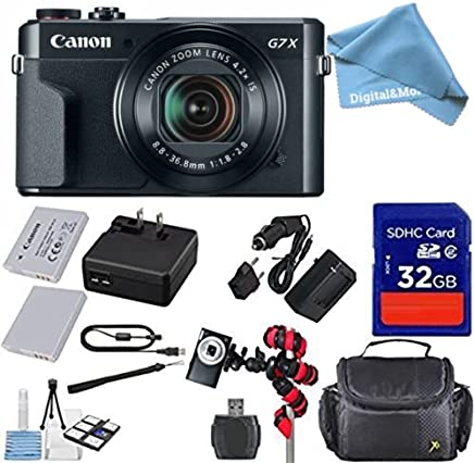 Canon PowerShot G7X Mark II–Cámara digital de Wi-Fi + 12pc digitalandmore Cyber Lunes Bundle