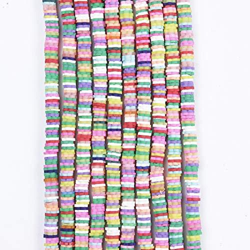 BOSAIYA Zz0 5/6 / 8mm Disco de viruta Spacer Suelto Perlas Hechas a Mano Forma Plana Forma de Flores Polímero Granos de Arcilla para joyería de Bricolaje Hacer Pulsera Accesorios Tl0428