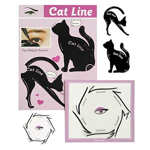 Eyeliner Schablonen Set by BLISSANY, 16 Styles - immer der perfekte Lidstrich von Cat Eyeliner, Extravagant, Classic Eyeliner, Double Wing bis zu Fish Tail Eyeliner (2 Stück)
