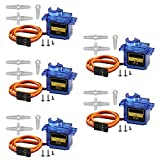 ACEIRMC SG90 Servo Motor Micro Servo 9G Servo Motor for RC Robot Arm Helicopter Airplane Remote Control (5 Pcs)