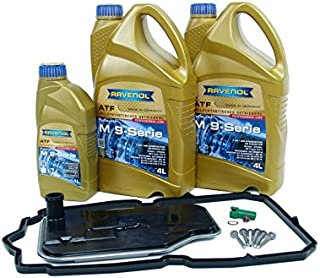 Blau F2A1538-A Automatic Transmission Fluid Change Kit - Compatible with 2006-10 Mercedes C-Class - 7 SPD (Fits Only 722.9 Transmission with Red Fluid)
