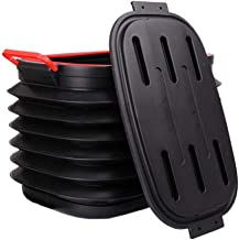 GLP Water Storage 40L Car Folding Bucket, Large Portable Water Storage Bucket, Multifunction Outdoor Fishing Bucket Storage Box, Black