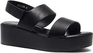 Belma Women's Open Toe Ankle Strap Platform Wedge Sandals