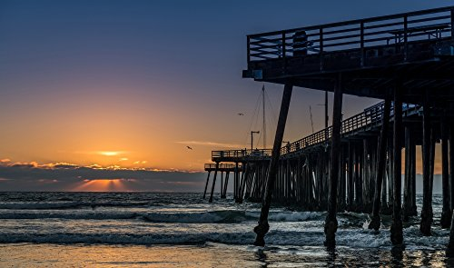 Posterazzi PPI174155LARGE Pismo Beach pier at Sunset San Luis Obispo County California USA Poster Print by Panoramic Images, 40 x 24, Varies