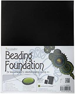 BeadSmith Beading Foundation For Embroidery Work - Black 11x8.5 Inches (4 Pack)