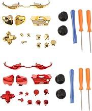 KESOTO 2 Colors Full Button Set Kit for Microsoft Xbox One E Elite Controller Repair Parts, Thumb Grip Cover, L R Trigger ...