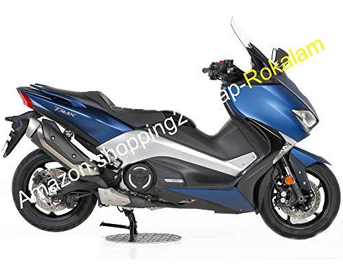 Kit de carénage de moto TMAX530 2017 2018 TMAX 530 T-MAX 530 17 18 bleu (moulage par injection)