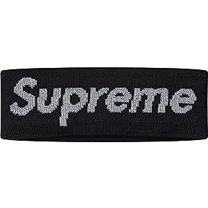 シュプリーム ニューエラ Supreme x NEW ERA REFLECTIVE LOGO HEADBAND ロゴ ヘアバンド ヘッドバンド (BLACK)