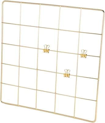 """PIKIFY Wall Grid Panel Decorative Steel Hanging Art Display Photo {8""""X8"""",Gold} Decorative Show Pieces Wall Mounted