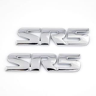 UpAuto SR5 Emblem Side/Rea V6 SR5 Trunk Decal Metal Sticker Badge for Tacoma