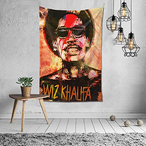 Wiz Khalifa Tapestry Art Wall Hanging Bedding Wall Tapestry Decoration for Living Room Bedroom Dorm Home Decor Funny Gifts Tapestry 60x40 inch