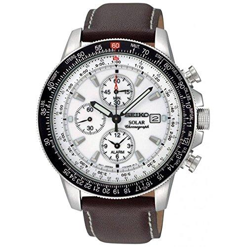 Seiko Men's SSC013 White Dial Watch