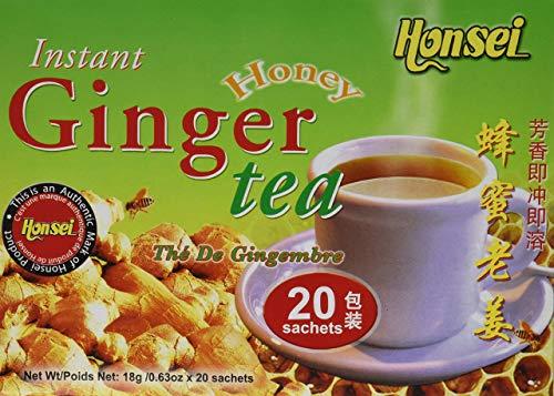 Honsei Instant Ginger Honey Tea, 40 Count - 10 pack