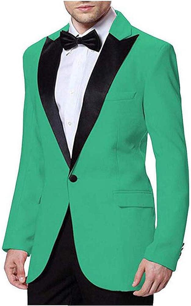 Men's 2 Pieces Wedding Suits Slim Fit One Button Bridegroom Blazer Groom Tuxedos