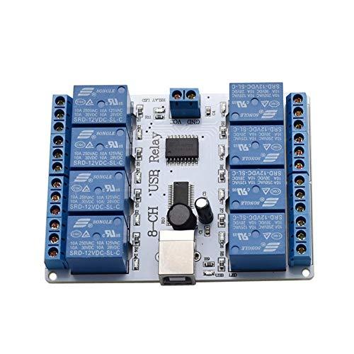 HoganeyVan Módulo de relé USB SainSmart 12V 8 Canales Opto-Pareja para Arduino Robotics