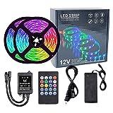XWX Luces De Tira LED con Control Remoto Control De Aplicaciones Música Sync 5050 RGB Cambio De Color LED Tiras De Luz LED Party Fiesta De Cocina Decoración De TV (Color : 10m)