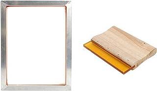 CROSYO Cadre en Aluminium de kit d'impression à écran A3 étiré avec Maille de 120m / 350m, émulsion Crotch Coat, Pince à c...
