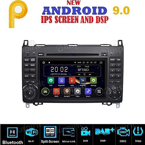 ANDROID 9.0 GPS DVD USB Autoradio 2 DIN Navigatore Per Mercedes Classe B W245 / Classe A W169 / Sprinter/Vito/Viano / B200 / B150 / B170 / A180 / A150 / Crafter / LT3