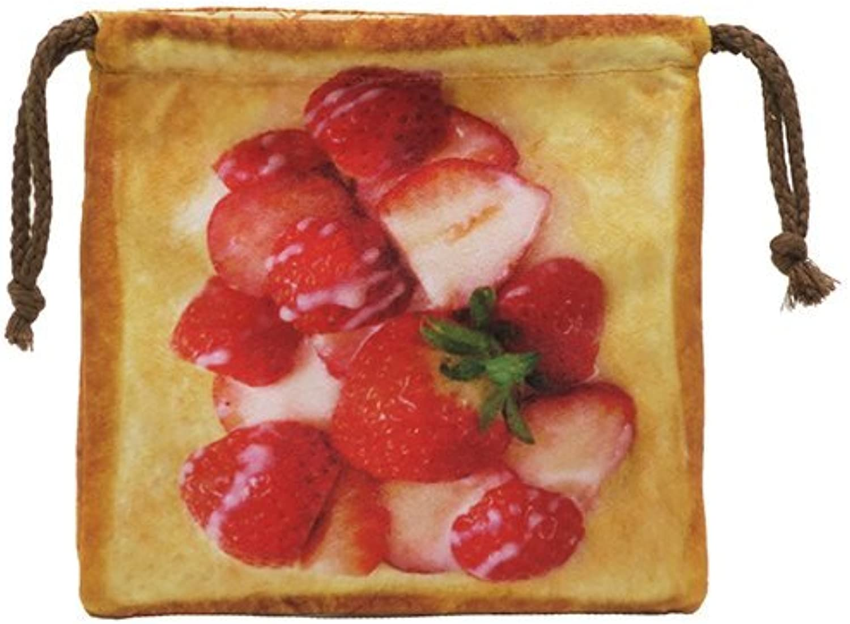 JP Toast Like Bread Like a Fluffy Drawstring Pouch 2 [Strawberry Milk]