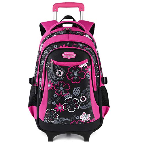 Fanspack Cartable a Roulette Fille Sac a Roulette Fille Cartable Fille Primaire Sac a Dos Fille a Roulette Sac Fille Primaire a Roulette
