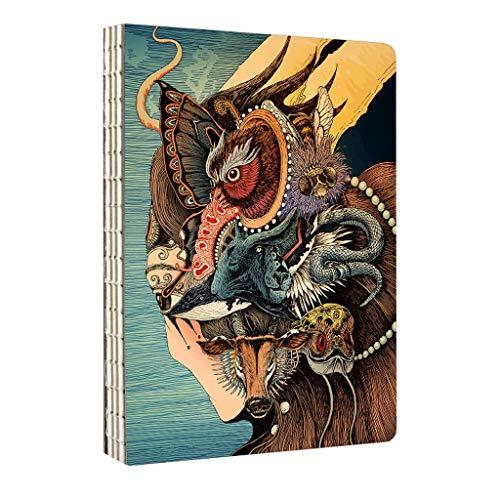 HJHJ Cuadernos Ilustración-clásico Blanco Memo Cuaderno con Espiral Bloc de Notas-Diario del planificador portátil con Forro de Papel (Art Marcador) Charcoal Sketching blocs de Notas