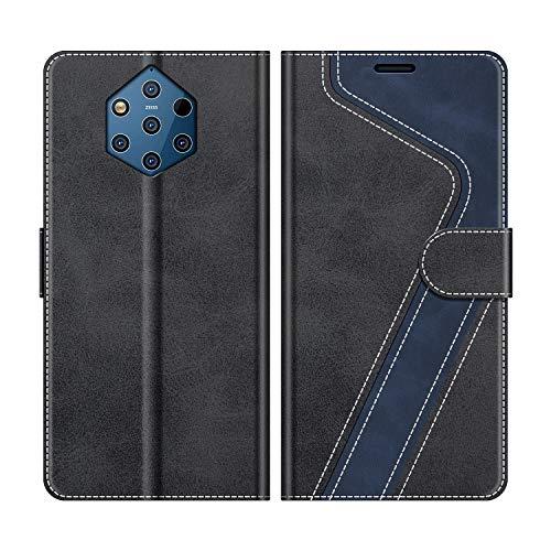 MOBESV Handyhülle für Nokia 9 PureView Hülle Leder, Nokia 9 PureView Klapphülle Handytasche Case für Nokia 9 PureView Handy Hüllen, Modisch Schwarz