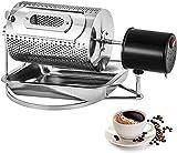 ZLFCRYP 40W Elettrica Macchina di Tostatura dei Chicchi di caffè, Acciaio Inossidabile Rullo Tostatori di caffè