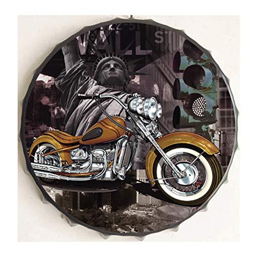 SFXYJ Metall Malerei Wandbehang - Bierflasche Kappe Schmiedeeisen Dekoration - Vintage Wall Decor Art Plaque für Home Cafe Bar,D