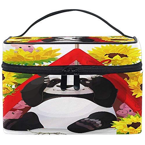 Grand Maquillage Sac Organisateur Mignon Animal Panda Tournesol Abeille Cosmétique Cas Sac De Toilette De Stockage Portable Zipper Poche Voyage Brosse Sac