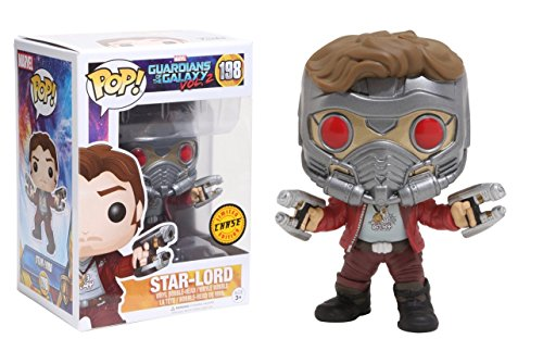 Funko POP! Guardians Of The Galaxy Vol 2: Star-Lord (CHASE) - Stylized Marvel Vinyl Bobble-Head Figure 198 NEW