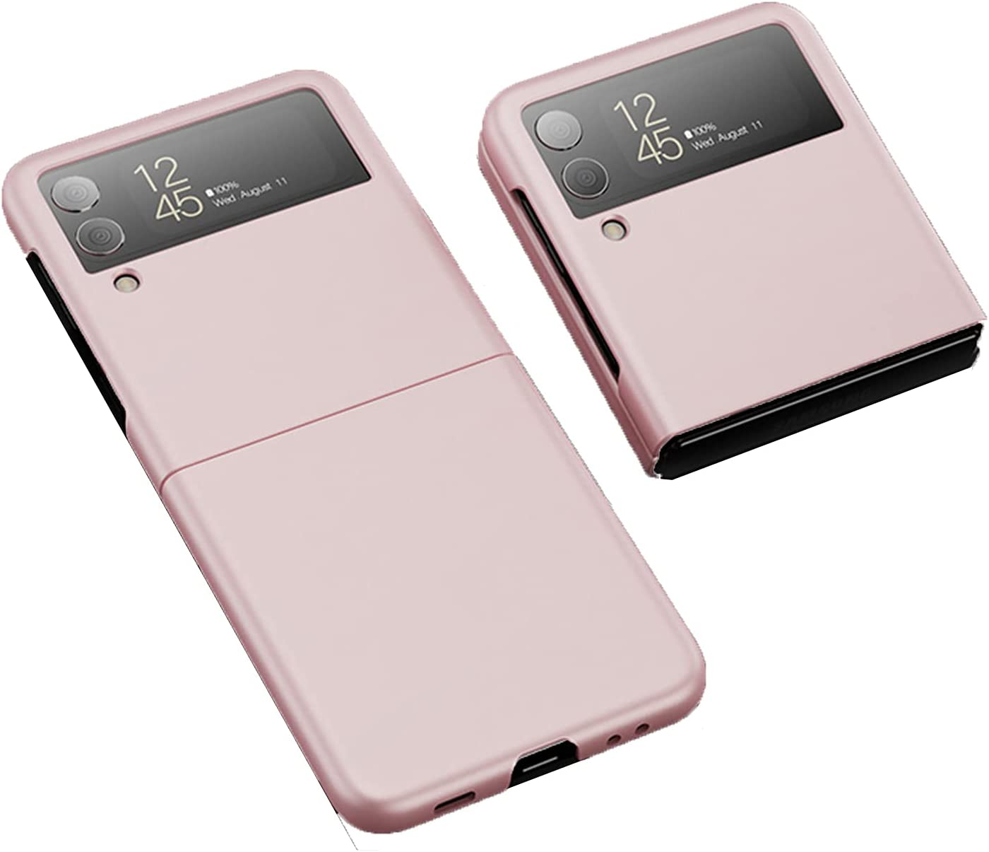 Zouzt Slim Thin Designed Back Cover Case for Samsung Galaxy Z Flip 3 / Z Flip3 5G Case (2021) - Hard Back Case Cover- Rose Golden
