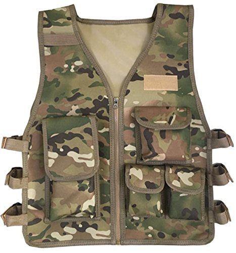 JOKHOO Kids Army Camouflage Outdoor Combat Vest (Cp Color,8-14 Year)