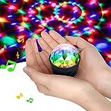 Disdarkday Mini Discokugel Licht, Stimme Steuerung Disco Party Lichter Bühnenbeleuchtung Effektlicht DJ Stroboskop Kugel mit Spiegeln & Glitzereffekt für Weihnachten, Kinder, Kinderzimmer,...