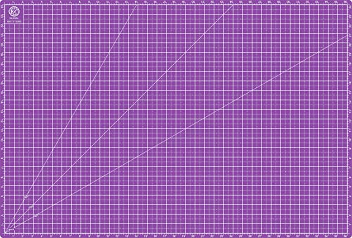 "KC GLOBAL A1 (38""x26"") Professional Grade Self-Healing Cutting Mat (Purple) - Odor-Free, Reversible, Eco-Friendly, Durable Bright Surface. Premium Desk Mat for Crafters, Quilters, and Hobbyist"