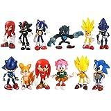 Yzoncd 12 Unids / Set Figuras Sónicas De Juguete 5-7Cm, Sonic Shadow Knuckles Tails Amy Super Sonic ...